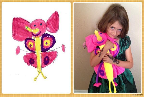 아이들의 그림을 봉제인형으로 만들어주는 웹사이트. 아름다워라. http://t.co/Q01H3X5yhr http://t.co/OxUh74BNkT