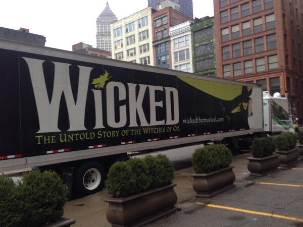 The witch has arrived, and she'll be on the Benedum stage tomorrow! http://t.co/RZnh23Zw9W