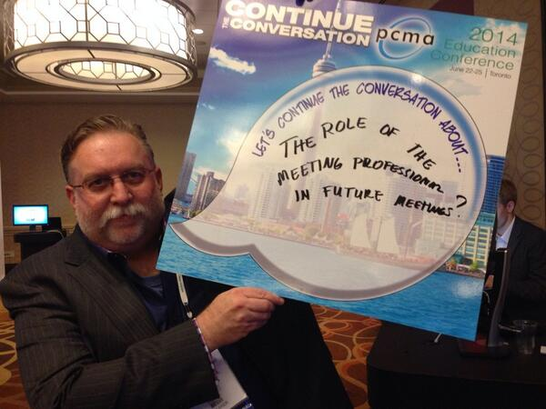 #pcmaflashchats #pcmacl what is the role of the meeting professional in future events http://t.co/7Hh60f0Ui1