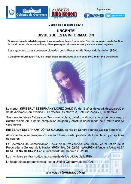 Alerta Activada: Kimberly Estephany López Galicia http://t.co/5TrKJym9Z5