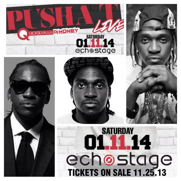 @Pusha_T Live at Echostage 1.11.14 Get Your Tickets Now | Tables Starting at $500 | 202 569 7496 For Info http://t.co/zcwoGEhN2t