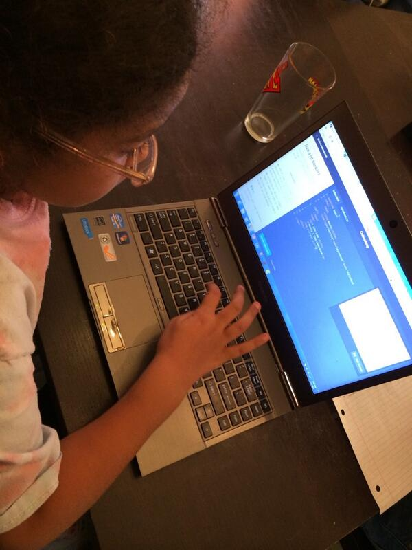 @snipeyhead here's my daughter using codecademy and w3 schools on day off http://t.co/Ai3yRiSkBg