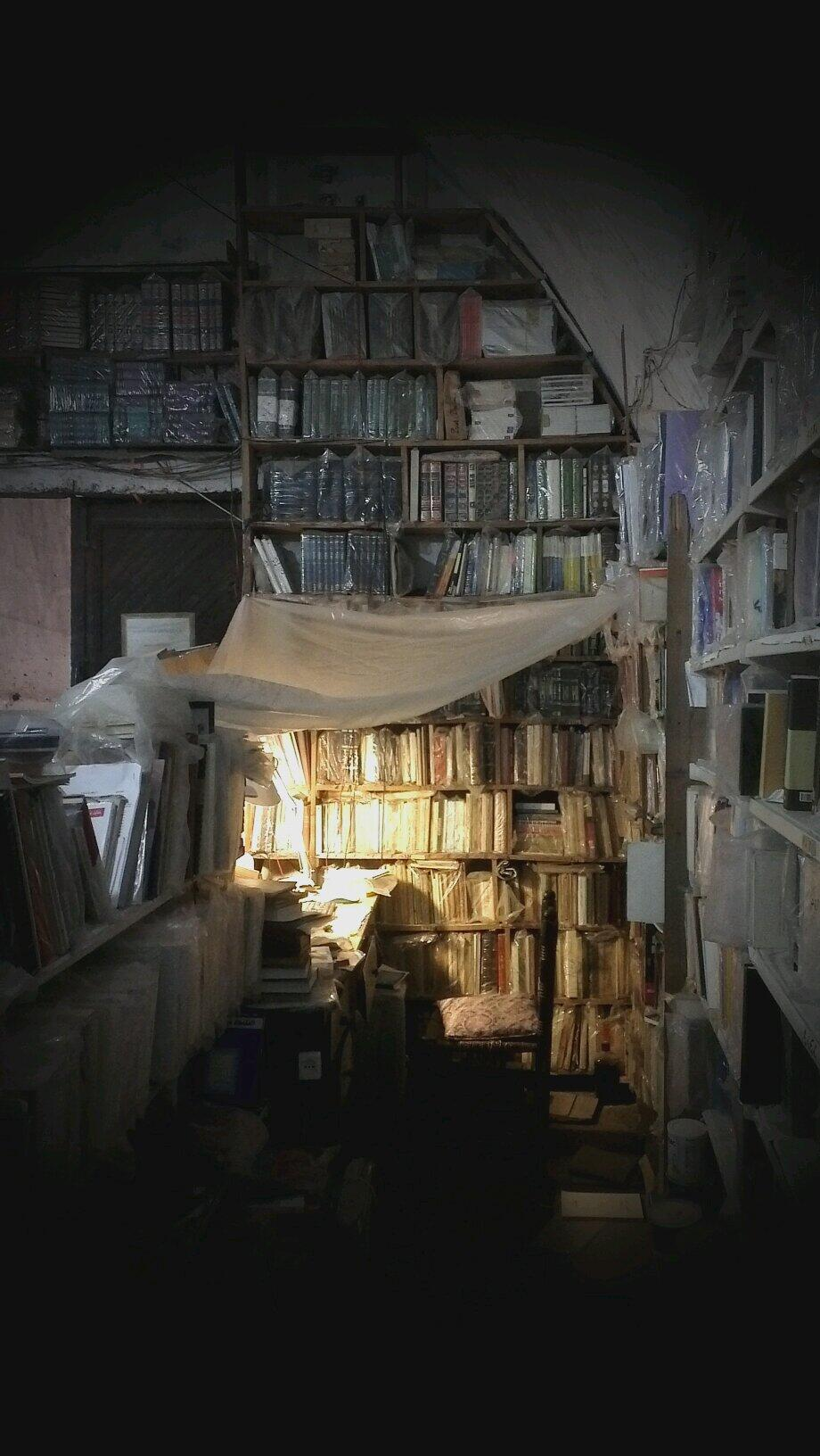 The library of father Ibrahim Sarrouj in Tripoli. Now burned by extremists. Shame on you. http://t.co/2SwTr4FOfA