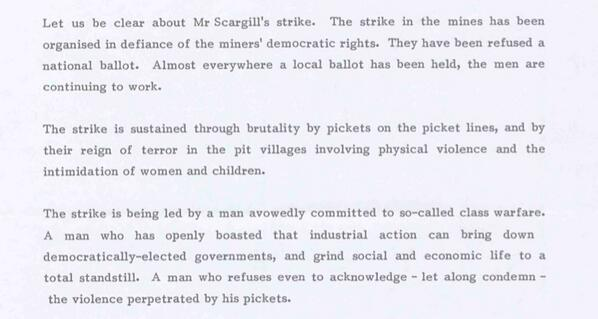 #lestweforget The truth about the Miners strike in three paragraphs http://t.co/wJ8eskEual