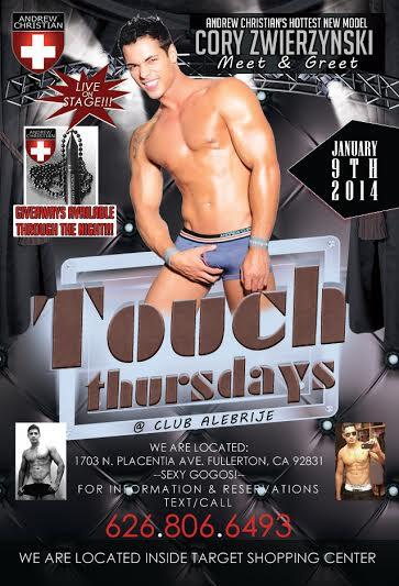 So Cal Fans! Come #Meet Cory Zwierzynski. Touch #Thursdays @ Alebrijes #NightClub  on Jan 9th in Fullerton CA 9pm-2am http://t.co/WDSsUOG1hJ