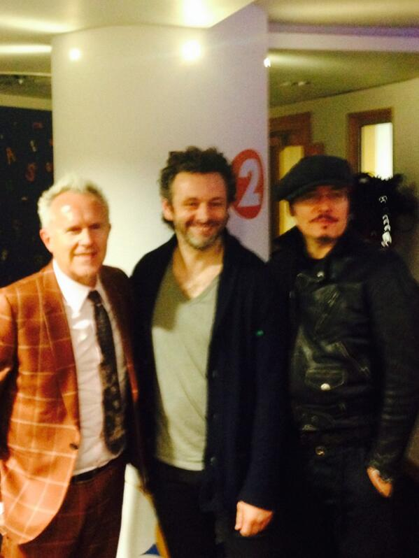 Here at Radio 2 with Adam Ant and Michael Sheen as you do. http://t.co/Xr1M6o6xJp