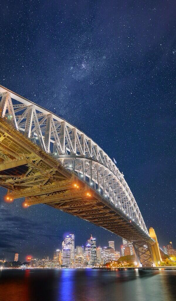 Puente de la bahía de Sídney, Australia. http://t.co/WtPttnqZIz