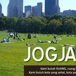 #Jogja #Info Jogja Butuh Ruang Publik & Area Hijau via @kota_jogja http://t.co/Ox6kOSfNIv