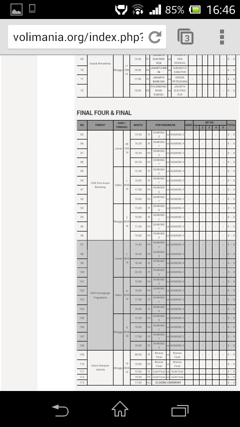 Jadwal Proliga 2014 final four dan final : http://t.co/D1VN6BtTsW