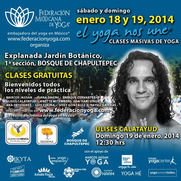 Sábado 18 y domingo 19 de enero, @UlisesYogi estará dando una clase demo en Chapultepec! les dejamos la información http://t.co/lc6Vi4MGEH