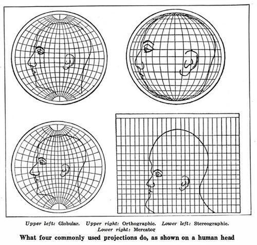 Alberto Cairo (@albertocairo): Classic MT @jenniferdaniel What commonly used projections do, as shown on a human head. via @Roseveleth @_ColinS_ http://t.co/2Wq4wiSwHG