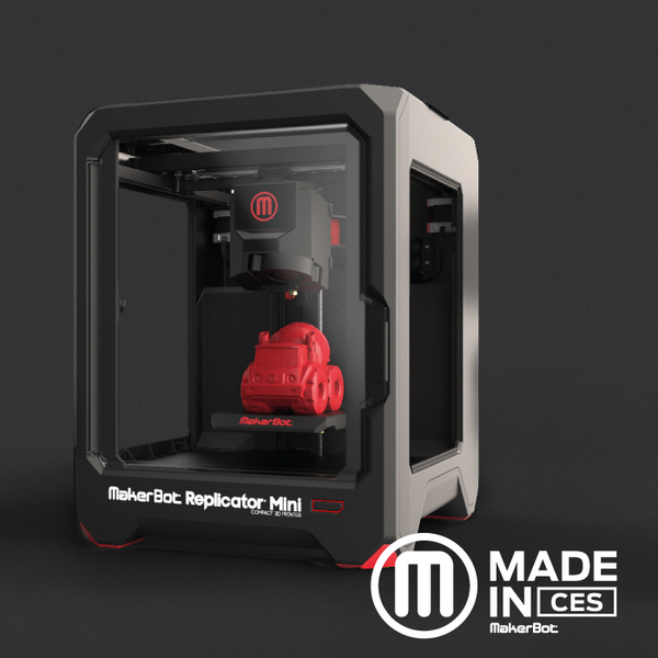 Meet the one-touch 3D printing: MakerBot Replicator Mini. The culmination of everything we've learned. #MadeInCES http://t.co/ovgKzdX3Rp