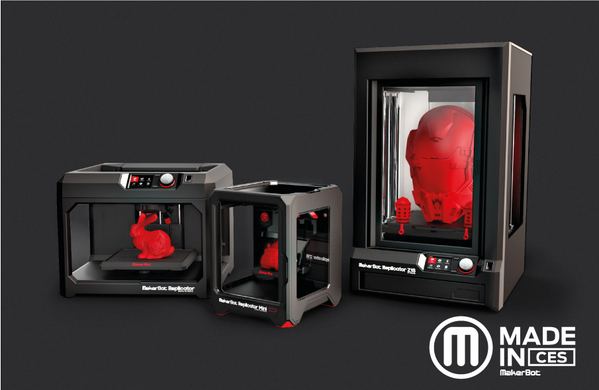 There are no more excuses! The question isn't are you going to get a MakerBot 3D printer, it's which one. #MadeInCES http://t.co/UTDzxDaci2