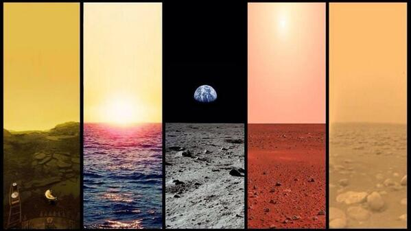 Wow. Landscapes of Venus, Earth, the Moon, Mars and Titan. Beautiful. http://t.co/2fkxNTDYGZ