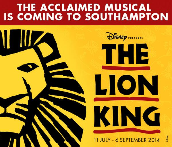 Yes, The Lion King is coming this summer, 11 July to 6 September 2014!  https://t.co/3lcm6STyAO http://t.co/QTGnxECpyt