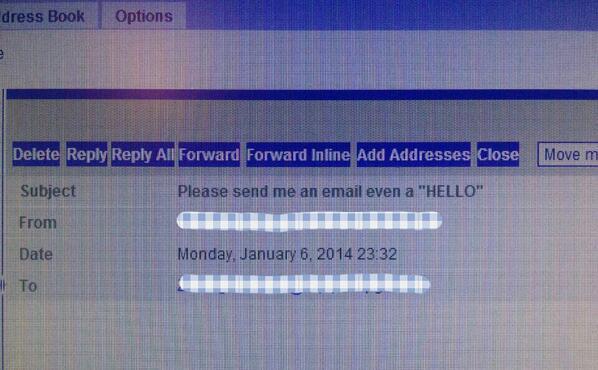 有个念书的朋友玩完寒假以后收到的导师绝望的邮件。 http://t.co/KcAUNip2yw