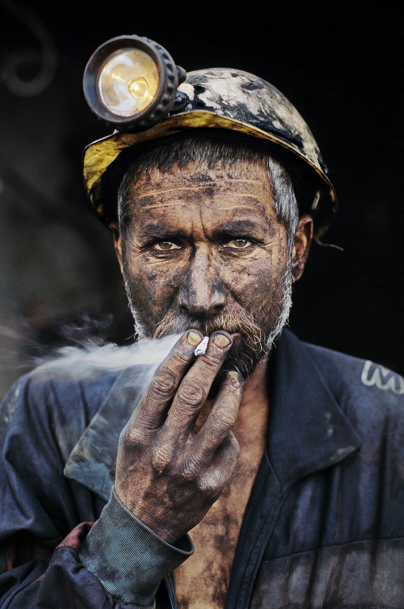 Today's portrait was photographed just after he emerged from his day's work in Pul-i-Kumri, Afghanistan. http://t.co/CrnueeSx6y