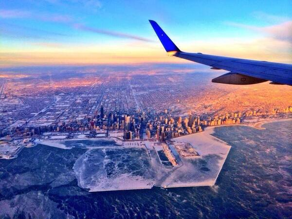Photobucket (@photobucket): A frozen Chicago captured from above. #polarvortex http://t.co/OruuHTzrOV