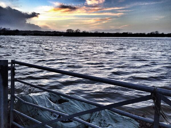 Five months ago this is where the #ReadingFestival was. #Reading #floods http://t.co/RckiqWnncM