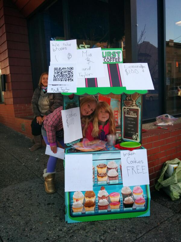 "This. ""@bitpay: These adorable little girls just sold snickerdoodles for Bitcoin in SF. http://t.co/WK6wS4lWib http://t.co/iH0K8gladB"""