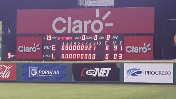 Escogido Baseball (@EscogidoBBClub): El #ControlEscarlata hizo un #NoHitter Combinado #RugeyGoza #Bicampeones http://t.co/i92vDPlp7N