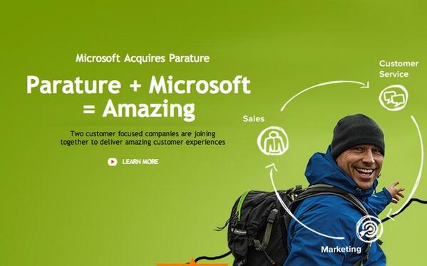 Microsoft Buys Parature For Dynamics CRM http://t.co/6hoywJLFsK