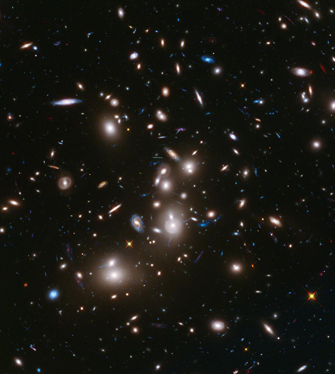 RT @NASA: This @NASA_Hubble image of a galaxy cluster shows some of the faintest & youngest galaxies ever detected. #AAS223 http://t.co/hnXExGpTeg