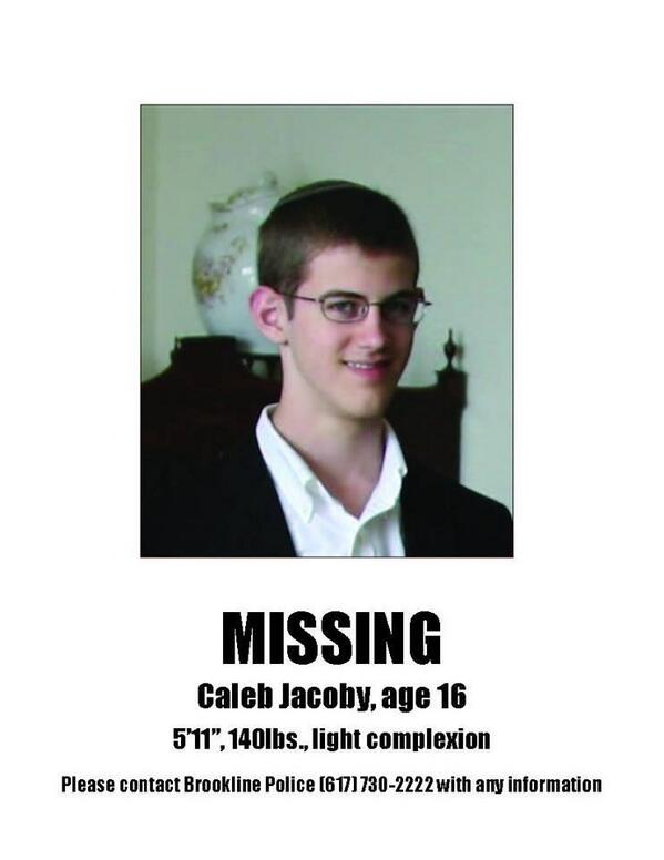 My old friend and sparring partner @Jeff_Jacoby's son is missing. If you know anything, call (617) 730-2222. http://t.co/kY8NeMT42z