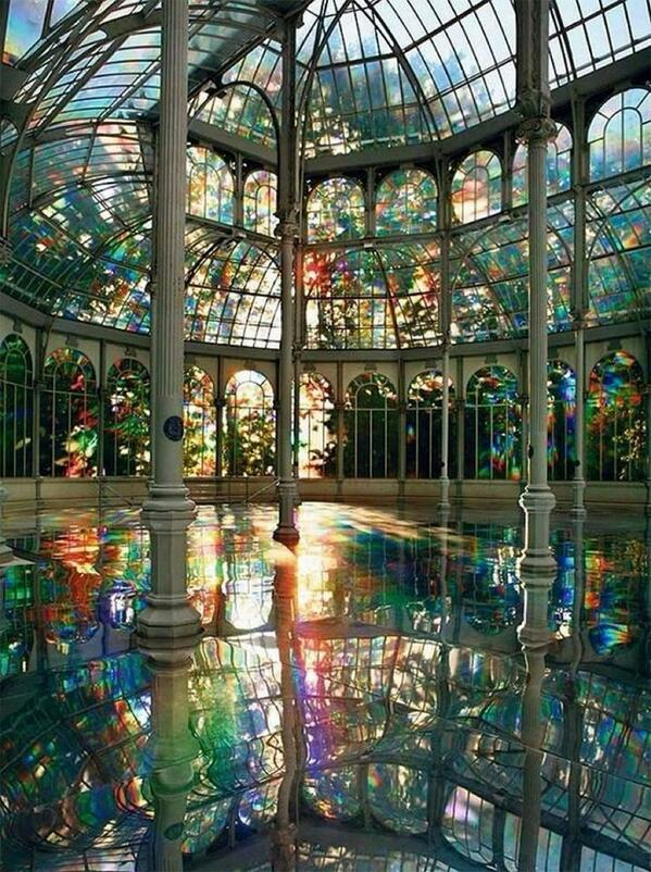 A Reflective Palace of Rainbows in Madrid by Kimsooja http://t.co/H2b9kgMHZI