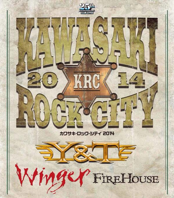 ***Y&T Plays Kawasaki Rock City Sat & Sun Night in Kawasaki, Japan*** special guests Winger & Firehouse. http://t.co/lanboHgcyf