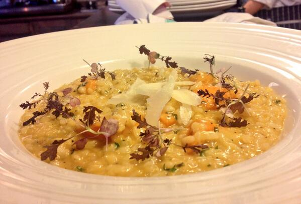The Ship (@ShipWandsworth): Delicious main - Roast butternut squash,confit garlic risotto, parmesan,sage http://t.co/zk1XnYupKJ