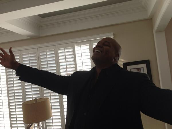 A relieved Frank Thomas after learning he's a Hall of a Famer. http://t.co/rSpKkNCYZx