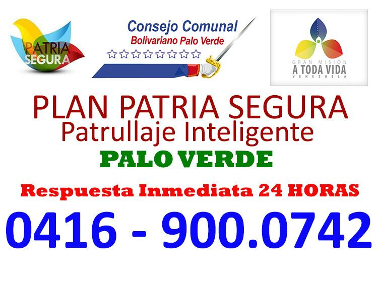 @paloverde_lomas NUEVO TELEFONO PATRIA SEGURA PALO VERDE CUADRANTE N° 13. http://t.co/jSAT2b4eAt