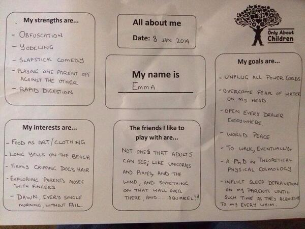 Love this daycare form filled in by a father of an 11th old http://t.co/Hnev5lq9CR
