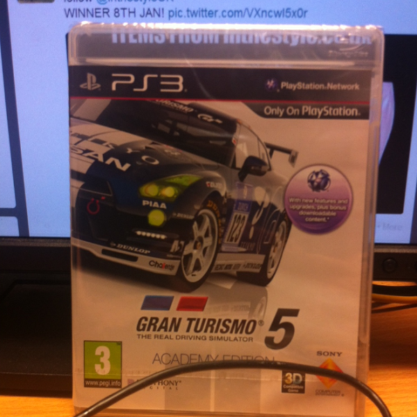 Retweet for a chance to win a copy of Gran Turismo 5: Academy Edition on PS3. Great game! #win #competition #giveaway http://t.co/xwhHRhgABU