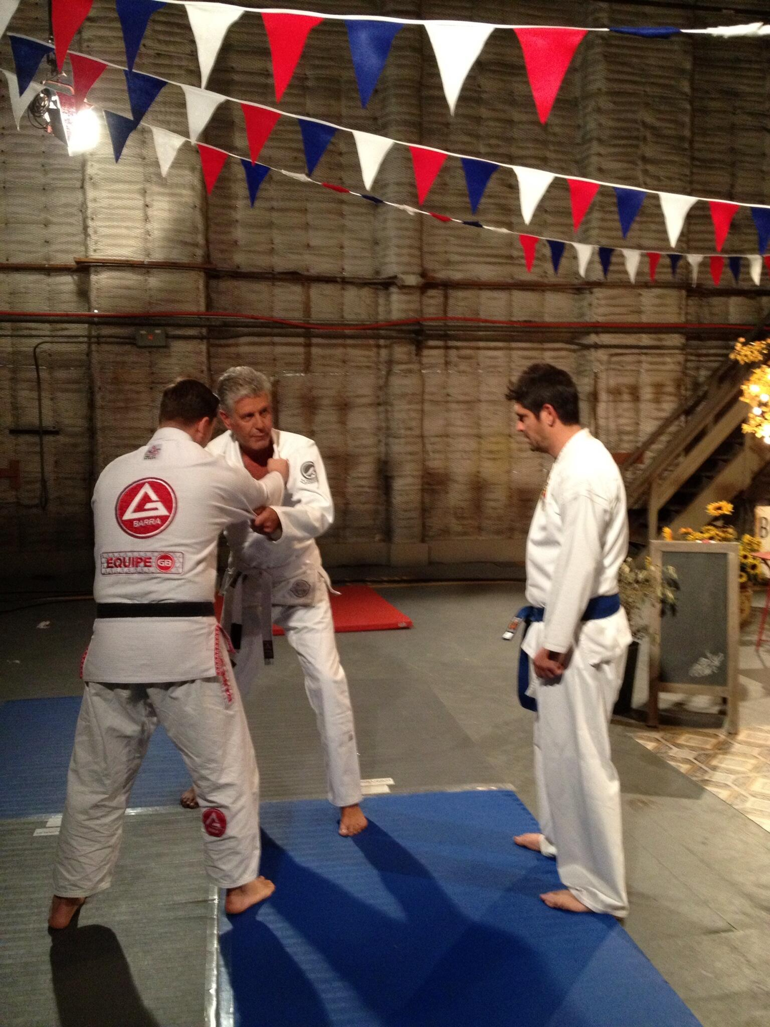 ". @chefludo ""My jiu jitsu will beat..your karate!"" @TheTasteABC  #crippledmasters #kimurathefrench http://t.co/SMSXKMLIte"