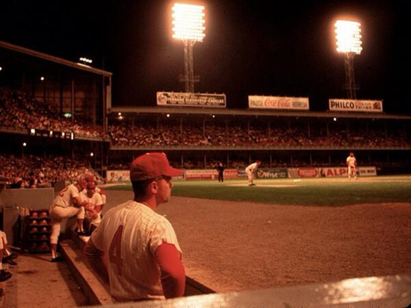 God damn. This is gorgeous RT @MLBcathedrals A cool night and packed house at Connie Mack Stadium, c. 1964. #Phillies http://t.co/oVFZrzSbz3
