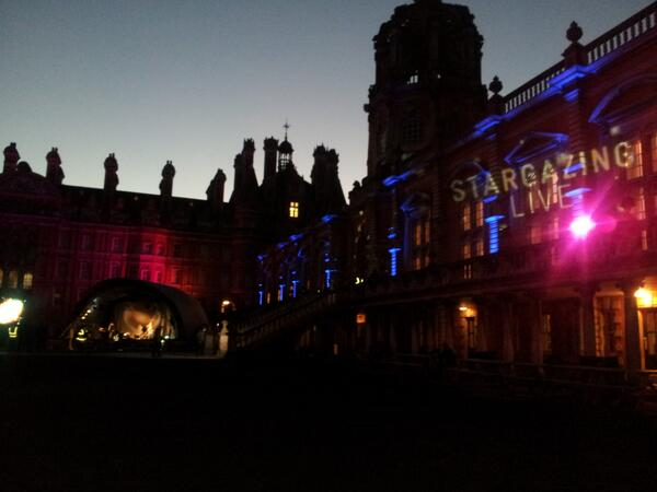 Founder's is looking stunning in preparation for #StargazingLIVE @BBCTwo tonight! http://t.co/kFkWHbOJRW