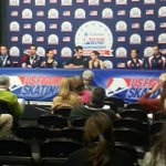 Pairs Press conference. Getting nervous for the ladies!
