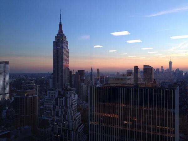 #latertweet (is that a thing yet?) from this evening's sunset, view from Times Square Tower http://t.co/A9WTUEu9xV