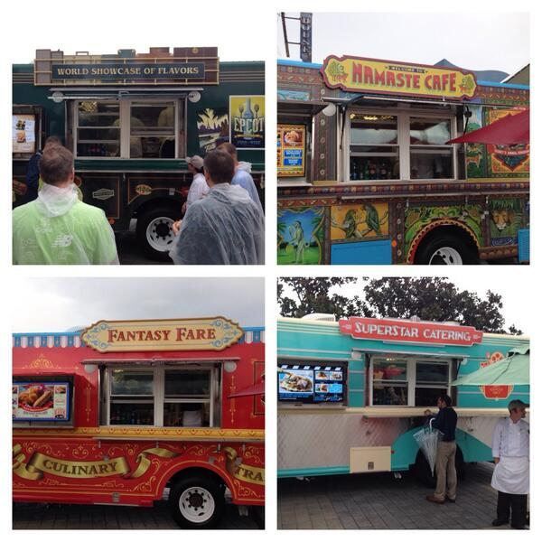 The four amazing #WDWFoodTrucks @WDWDowntown @WaltDisneyWorld http://t.co/mlBuUYrMGm
