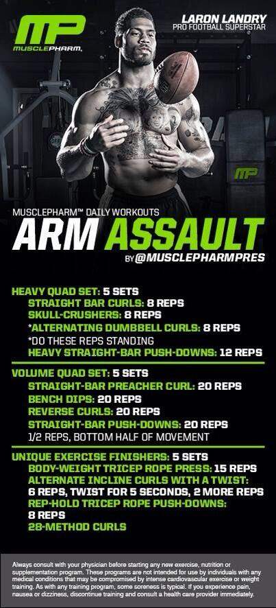 ******** ARM ASSAULT ************ Workout of the Day! @MrLandry30  brought 2Uby @GNCLiveWell http://t.co/54QetVSwKB