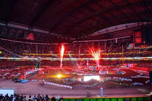 #tbt Only a couple more days til the @RCHracing crew is back at Chase Field in PHX for #supercross! http://t.co/Jv4YK7qqFo