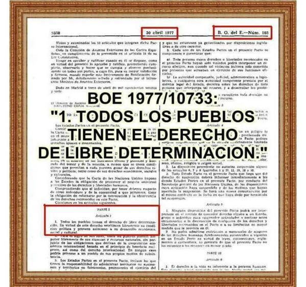 El BOE incorpora el dret a l'autodeterminació des de 1977. Per què diuen que la llei espanyola no ho contempla? http://t.co/RFjyhplVhq