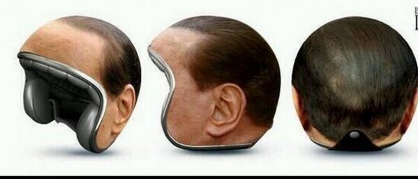 Ya tenemos el mejor producto de 2014: el casco de Berlusconi http://t.co/rd6Y2grnq8