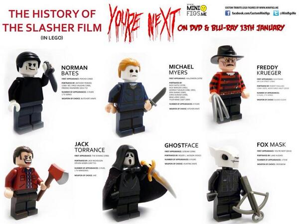 This is brilliant. History of the Slasher Film in #LEGO http://t.co/0jl1OuGOPh