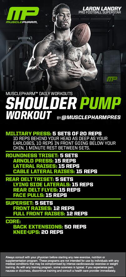 ******** Shoulder PUMP Workout ********* Workout of the Day!  @MrLandry30  brought 2Uby @GNCLiveWell http://t.co/Tb7m83d8WH
