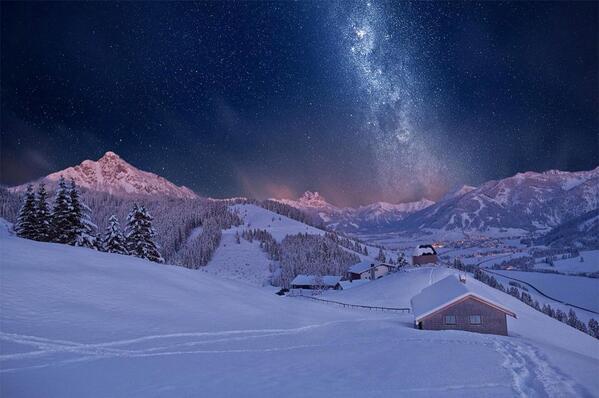 Tyrol Mountains On Winter, Austria http://t.co/t4qYmr2iix