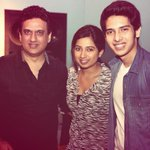RT @ArmaanMalik22: Me and @shreyaghoshal with @daboomalik during dad's recording ! Super time! In awe of her singing! http://t.co/Tm5SWB9oEE