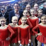 Hanging out with the flower girls and boy!! @USFigureSkating #Boston2014